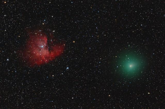 Comet Hartley 2 Encounters the Pacman Nebula