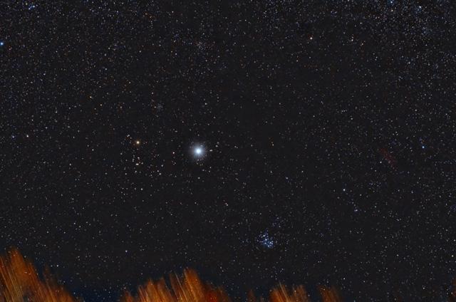 Jupiter in Taurus w/Pleiades